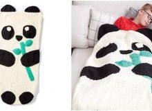 Panda Bear knitted snuggle sack   the knitting space