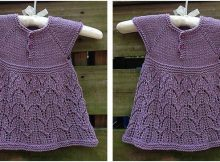 Paulina knitted baby dress | the knitting space