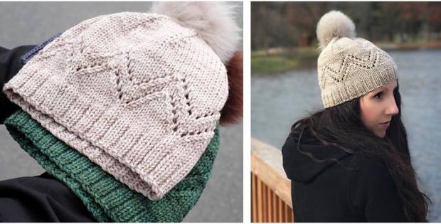 Pennyroyal Knitted Lace Hat Free Knitting Pattern