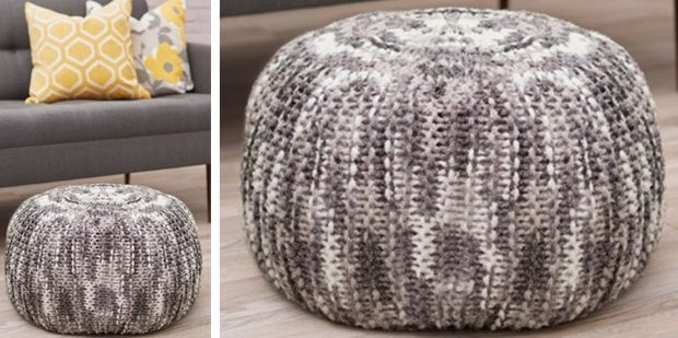 Lovely Pizazz Knitted Floor Pouf [FREE Knitting Pattern] New Knitted Floor Pouf Pattern