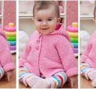 Play Date knitted baby cardie | the knitting space