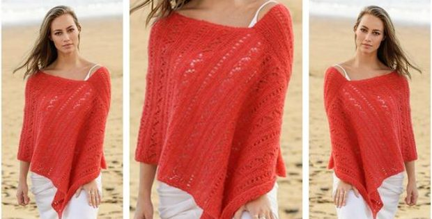 Playa Honda Knitted Poncho Free Knitting Pattern