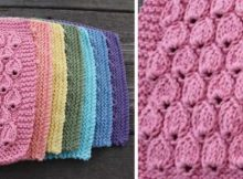 raindrop knitted dishcloth | the knitting space