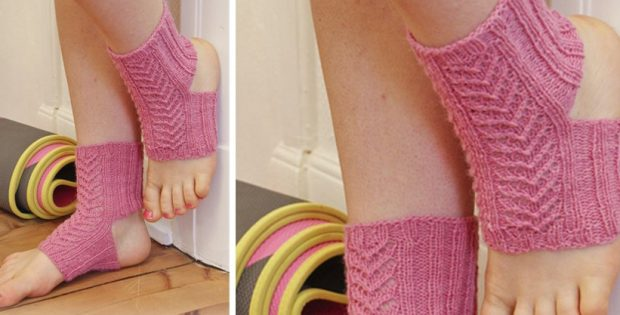 Raja knitted lace yoga socks | the knitting space