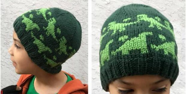 Rawr Dinosaur Knitted Beanie  PAID Knitting Pattern  a858491ccbc