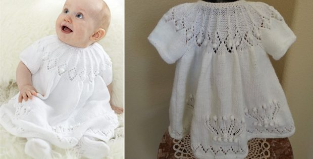 Royal Knitted Baby Dress