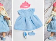 Royal Princess knitted doll outfit | the knitting space