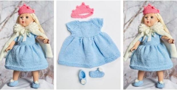 Royal Princess Knitted Doll Outfit Free Knitting Pattern