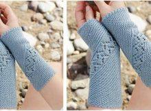 Saskia knitted wrist warmers | the knitting space