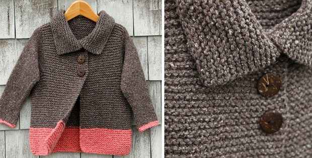 Sawtelle Knitted Cardigan For A Little Lady [FREE Knitting Pattern]