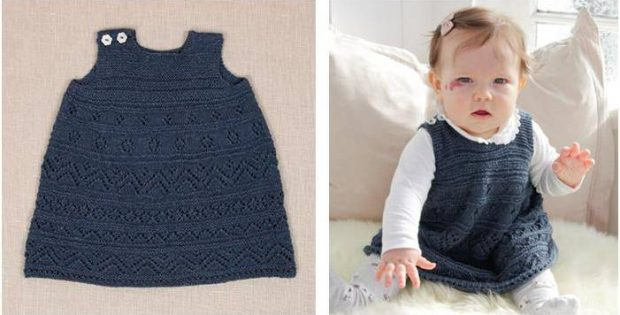 Serafina Knitted Lace Baby Dress Free Knitting Pattern
