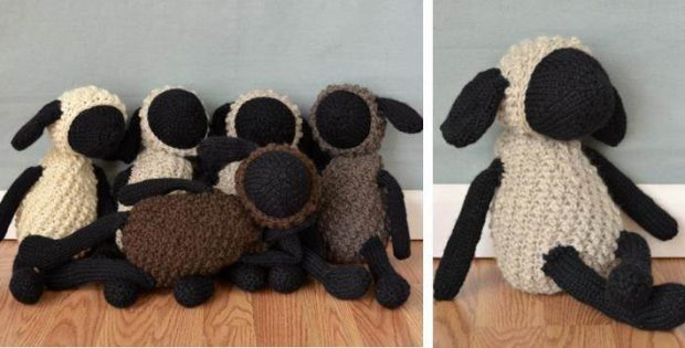 Sheldon Sheep Knitted Toy Free Knitting Pattern