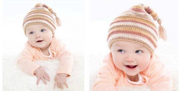 Silken Straw Knitted Stocking Cap Free Knitting Pattern