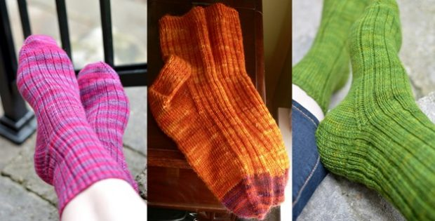 Nice Knitted Ribbed Socks Free Knitting Pattern