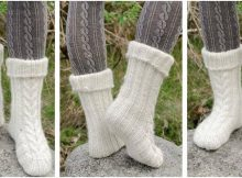 Snow Boots knitted slippers | the knitting space