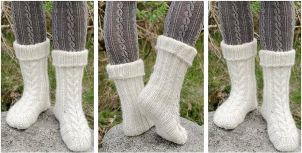 Snow Boots Knitted Slippers Free Knitting Pattern