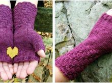 Sojourn knitted fingerless mitts | the knitting space