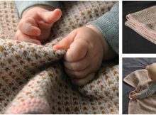 Somnus knitted baby blanket | the knitting space