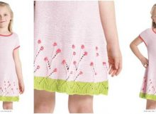 Spring Garden knitted dress | the knitting space