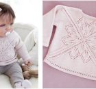 Spring Princess knitted baby sweater | the knitting space