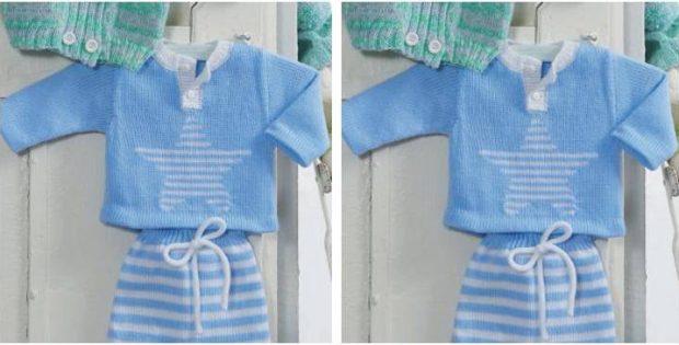 Star Knitted Kiddie Sweater Free Knitting Pattern