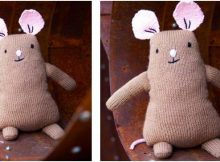 adorable Stilton knitted stuffed toy | the knitting space