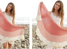 Strawberry Sorbet knitted shawl | the knitting space