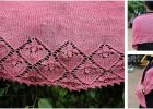 Summer Blooms knitted lace shawl | the knitting space