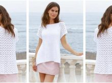 beauteous Summer Romance knitted top | the knitting space
