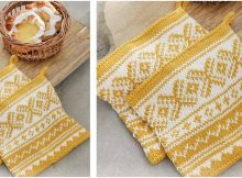 Sun-Baked knitted pot holders | the knitting space