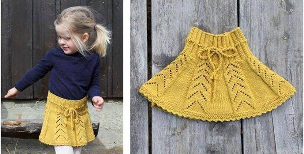 Sunny Hug Knitted Lace Skirt Free Knitting Pattern