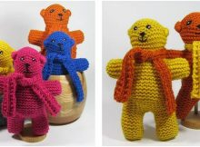 Sunrise Side knitted bears | the knitting space