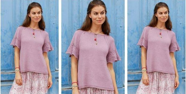 Sweet Susan knitted lace blouse | the knitting space
