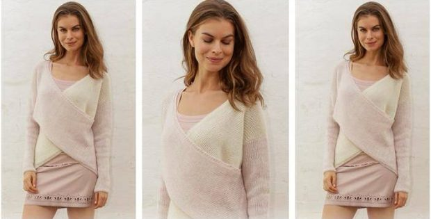 Sweet Twist knitted wrap sweater   the knitting space