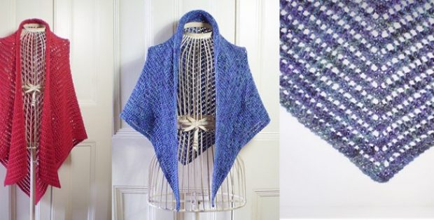 Syrian Knitted Triangle Shawl [FREE Knitting Pattern]