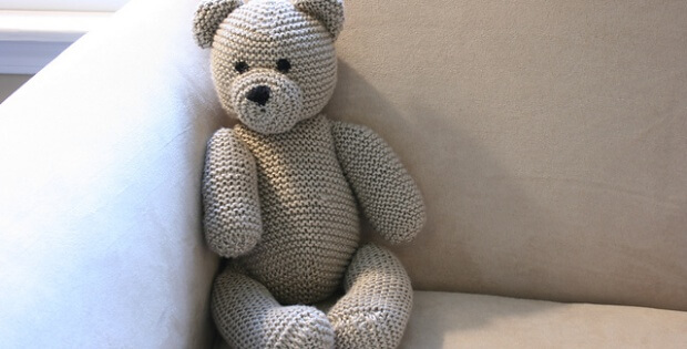 knitted teddy bear | the knitting space