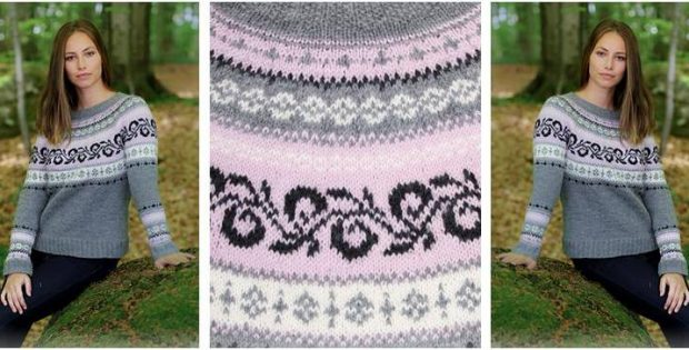 Telemark knitted Nordic sweater | the knitting space