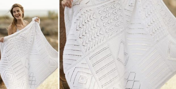 Timeless knitted lace blanket | the knitting space