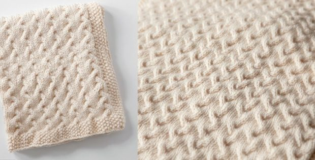 Tiny Ripples Knitted Baby Blanket Free Knitting Pattern