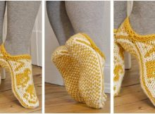 Tip Tip Toe knitted slippers | the knitting space