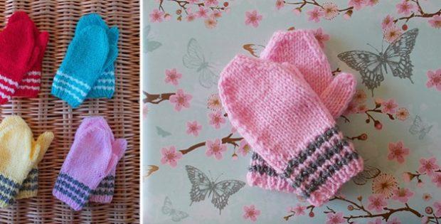 Fun Knitted Toddler Mittens Free Knitting Pattern
