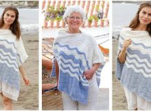 Vacation Bound knitted poncho | the knitting space