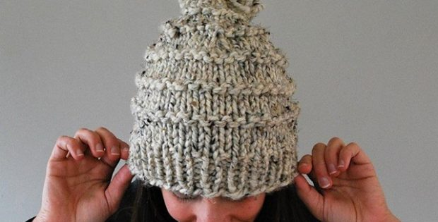 Vermonter Knitted Hat With Pom Pom [PAID Pattern]
