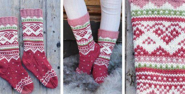 Visby Knitted Children S Socks Free Knitting Pattern