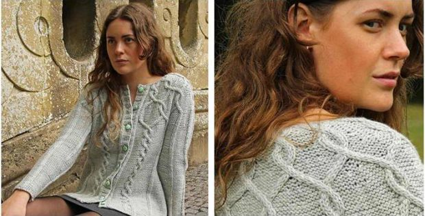 08d53d50d737a Viva Knitted Cable Cardigan  FREE Knitting Pattern