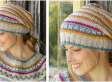 Winter Carnival knitted stripey hat | the knitting space