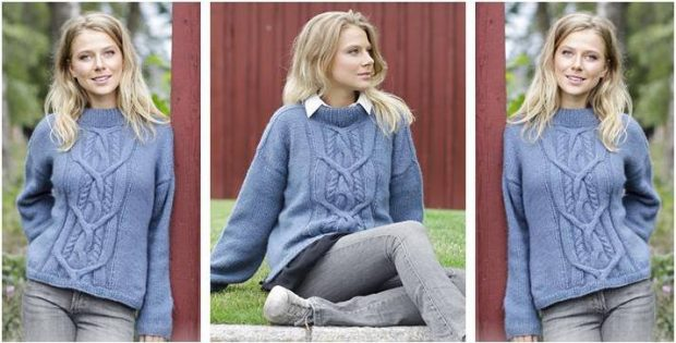 Winter Love knitted sweater | the knitting space