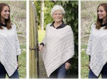 Winter's Heart knitted poncho | the knitting space
