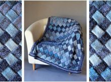 wonderful Woven Sky knitted throw | the knitting space