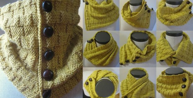Yellow Brick Road knitted cowl | the knitting space